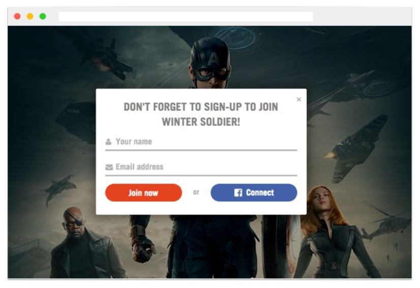 Queue screenshot: Create smart signup forms