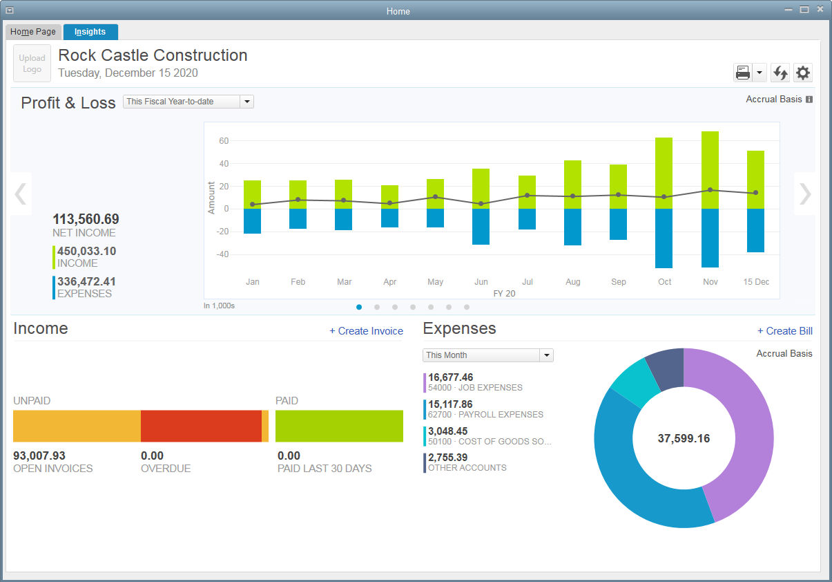 QuickBooks screenshot