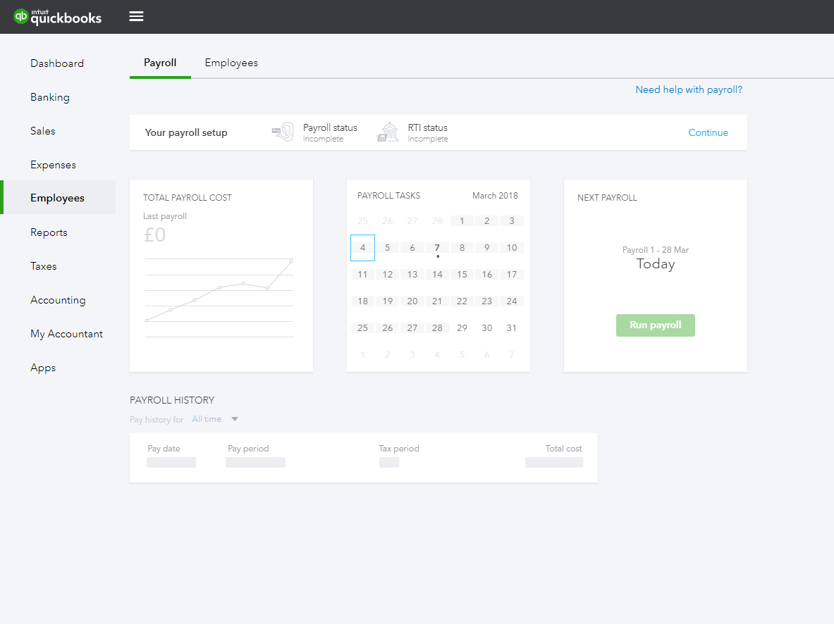 QuickBooks Payroll Screenshots