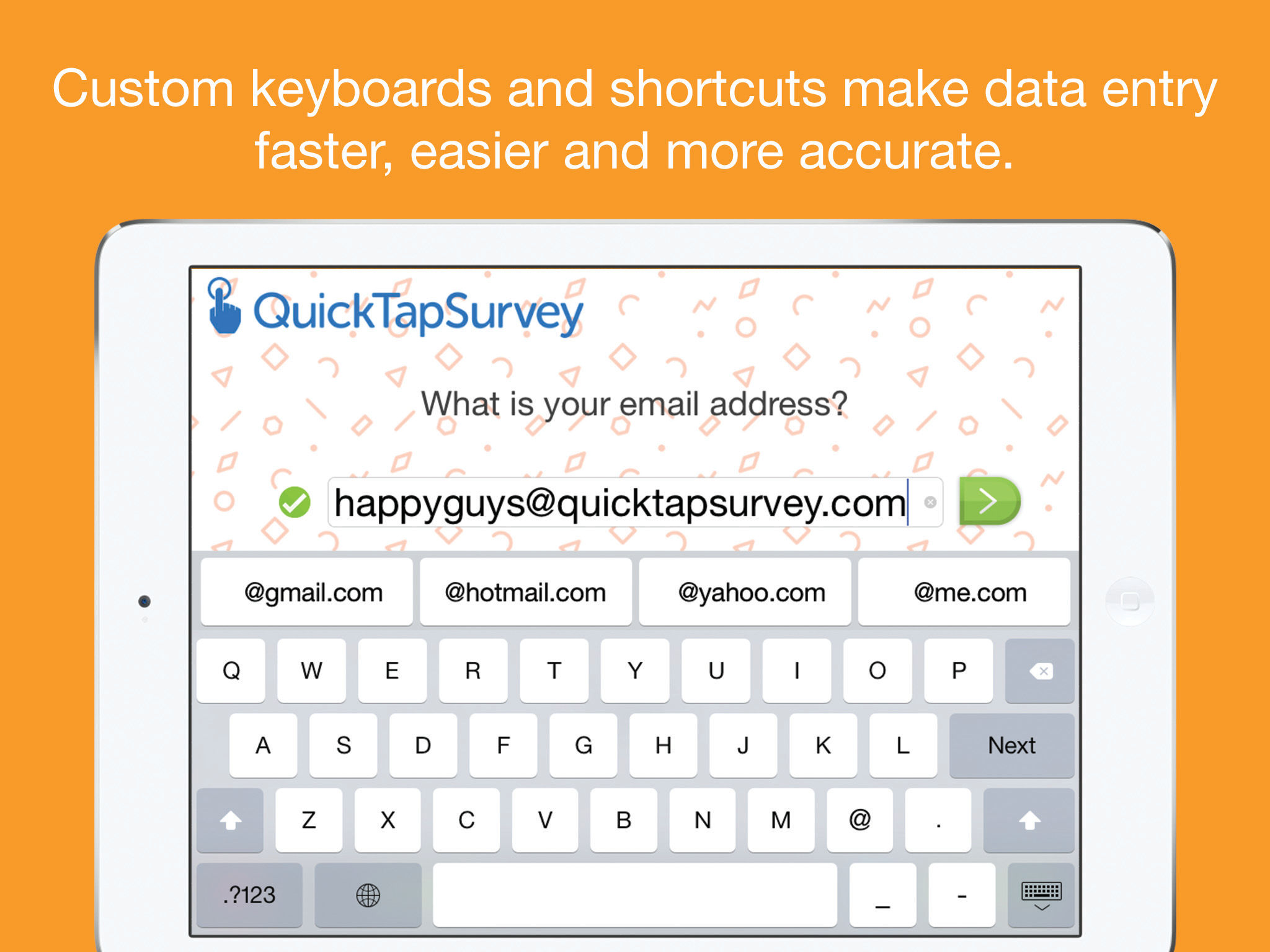 QuickTapSurvey Demo - Fast data entry