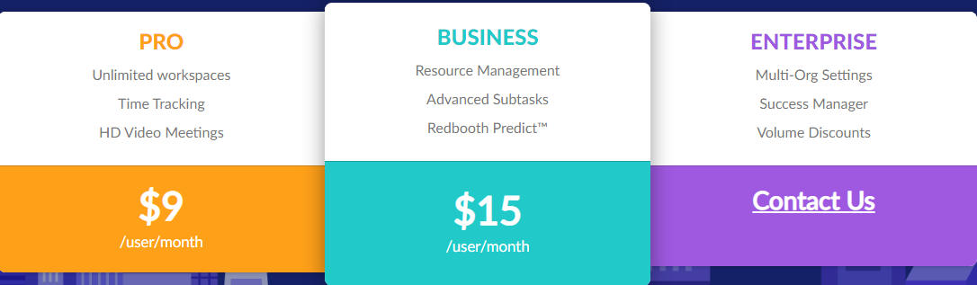 Redbooth Pricing