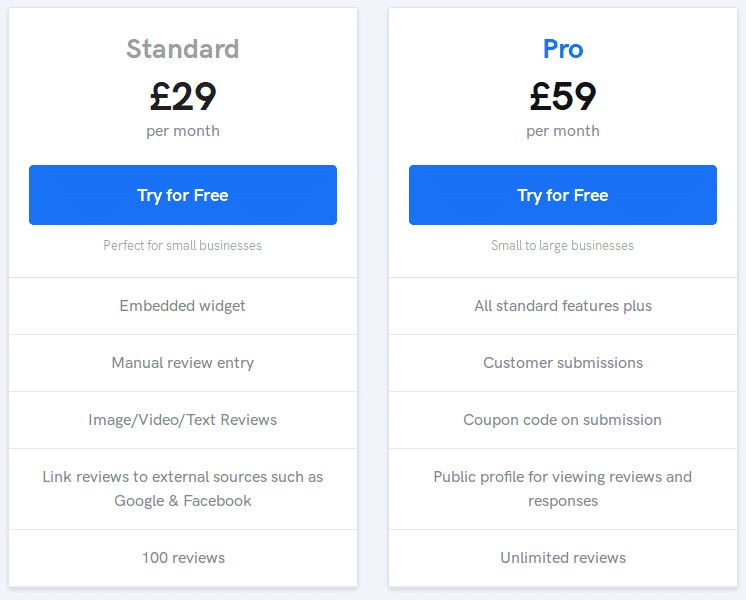 Reviewdrop Pricing