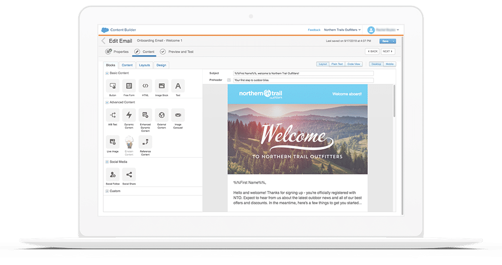 Salesforce Email Studio screenshot