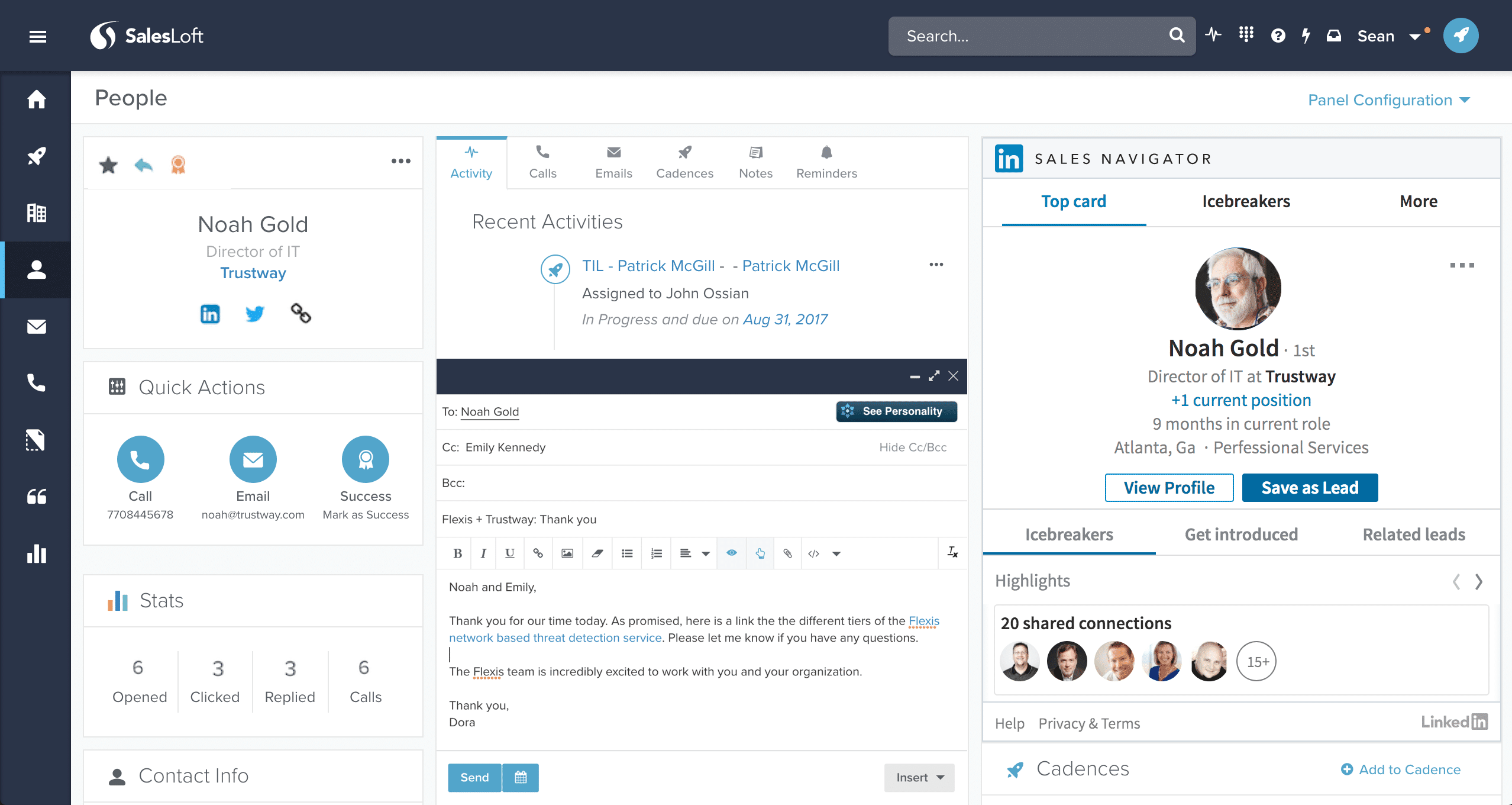 SalesLoft Screenshots