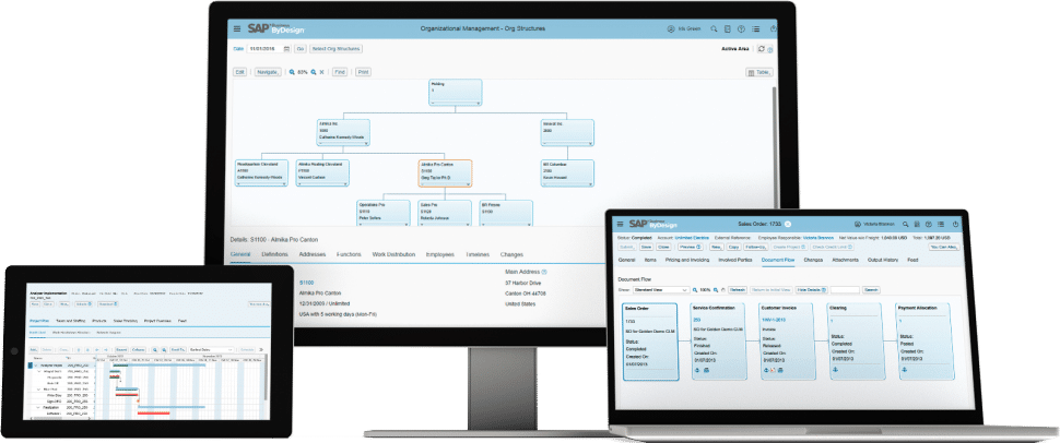 SAP Business ByDesign Screenshot