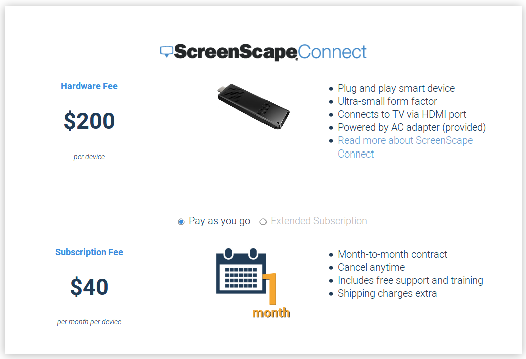ScreenScape Pricing