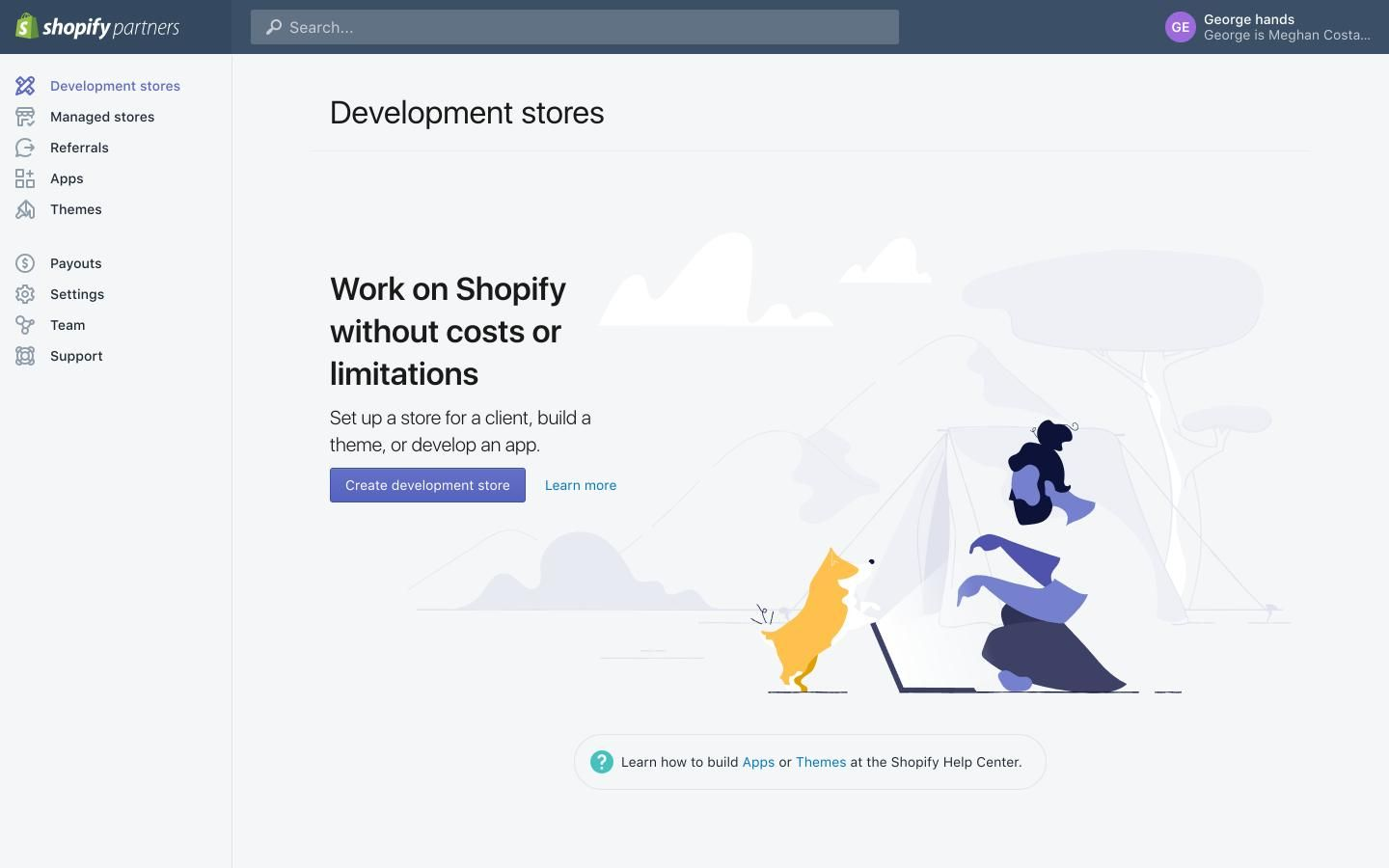 Dashboard development stores