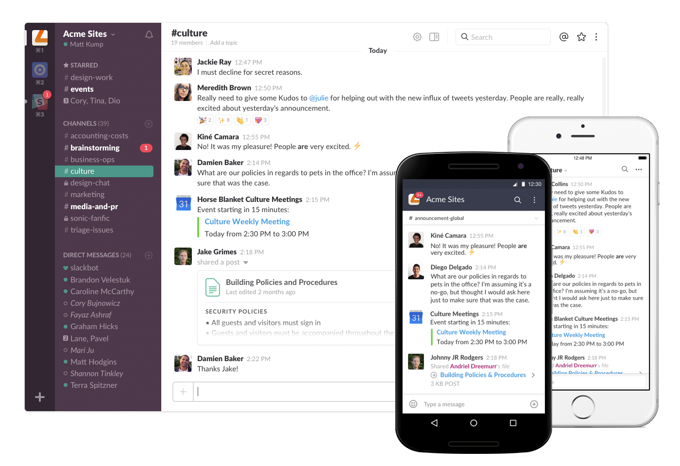 Slack Screenshots