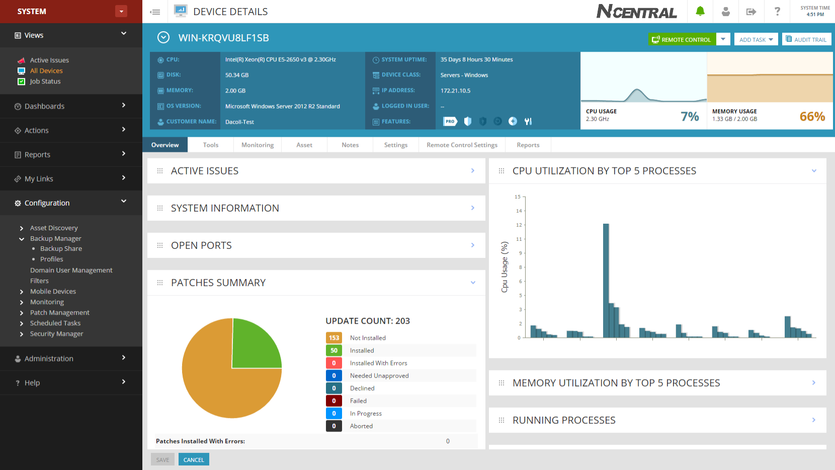 SolarWinds MSP Remote Monitoring & Management Demo - N-central Direct Support
