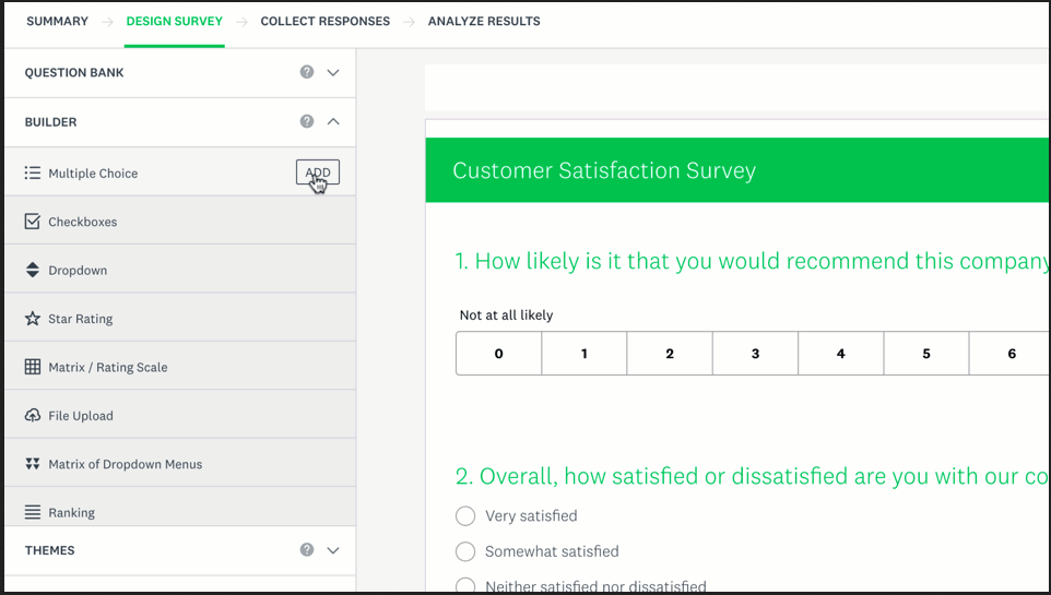 SurveyMonkey Screenshots