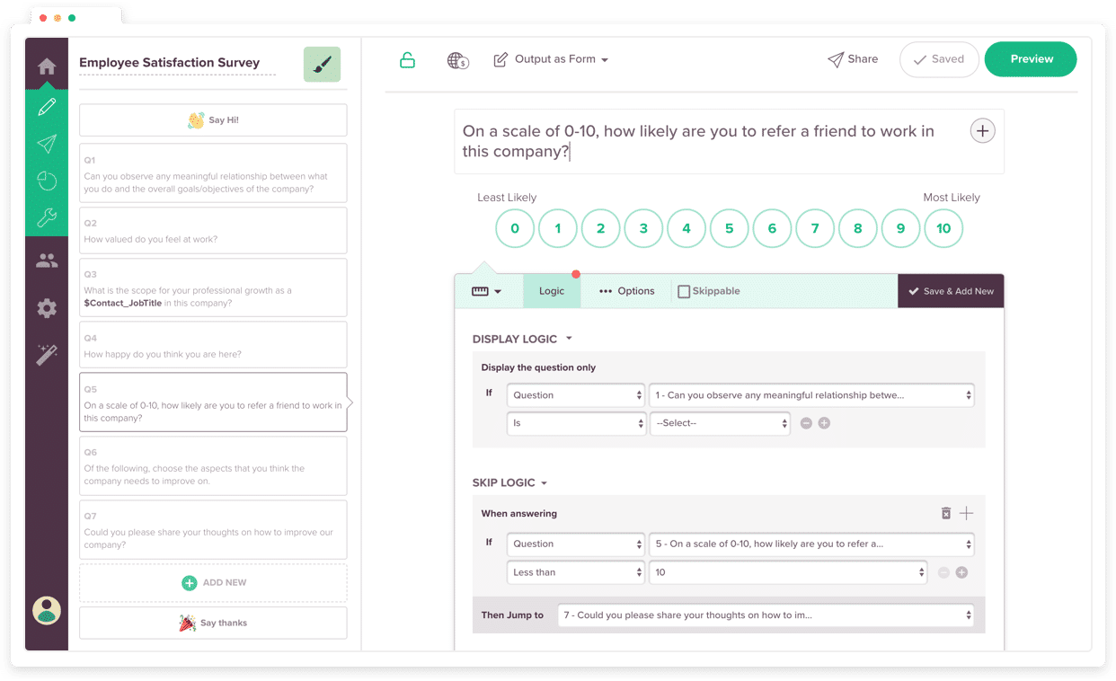 SurveySparrow screenshot
