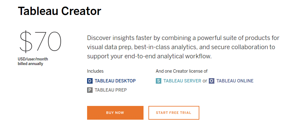 Tableau Pricing, Reviews and Features (September 2019