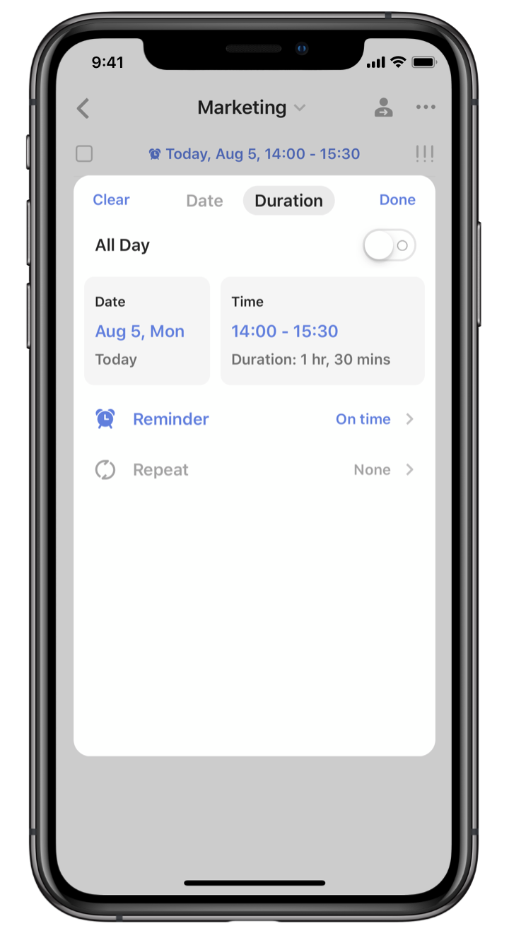 TickTick : Task Duration screenshot