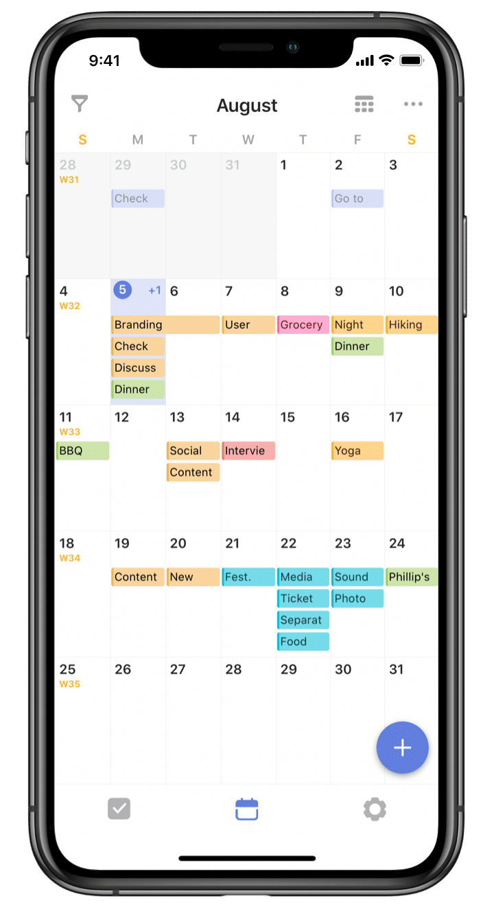 TickTick : Calendar screenshot