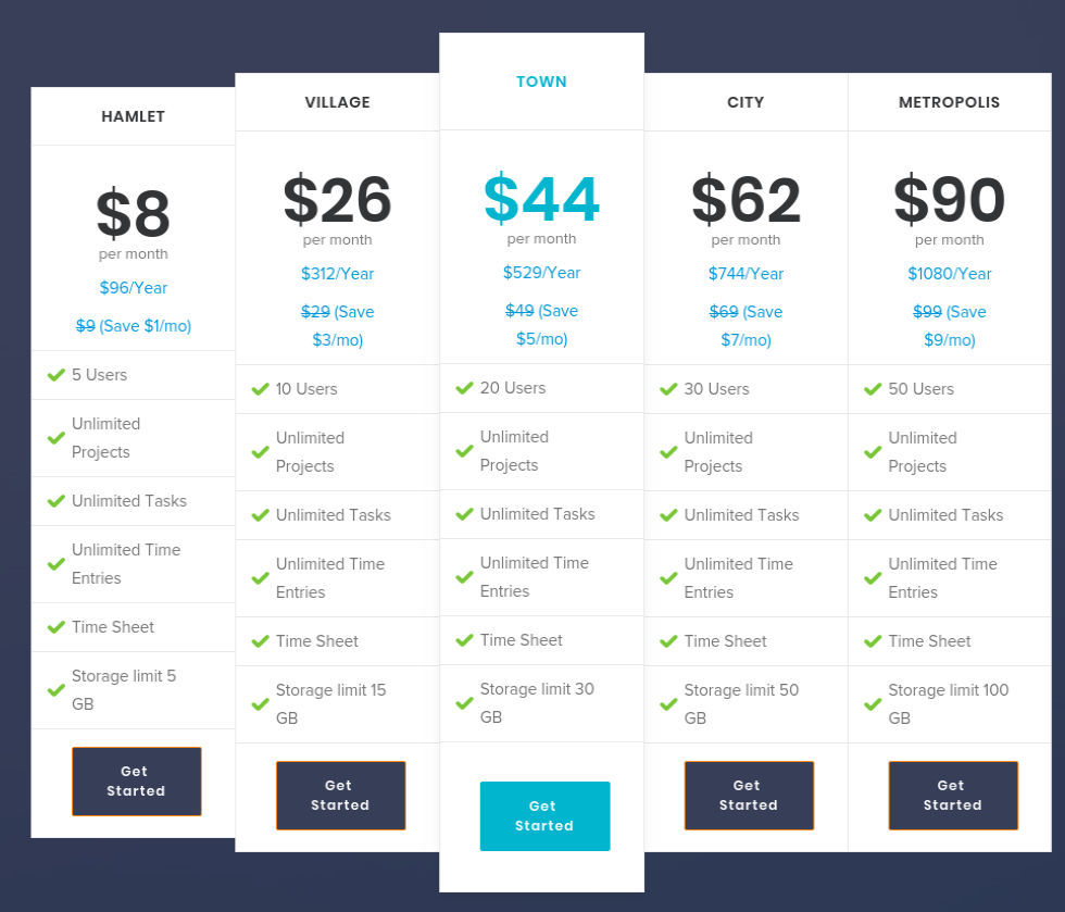 TimeTracker App Pricing