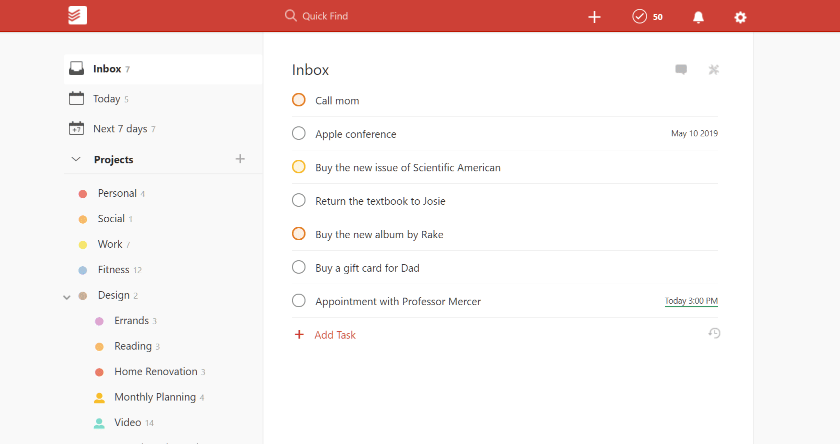 Todoist Screenshots
