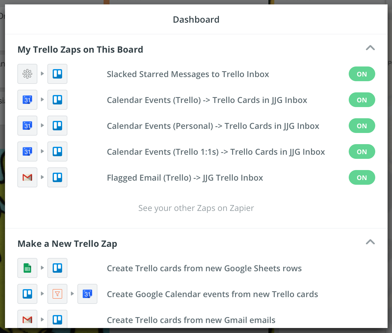 Trello Screenshots
