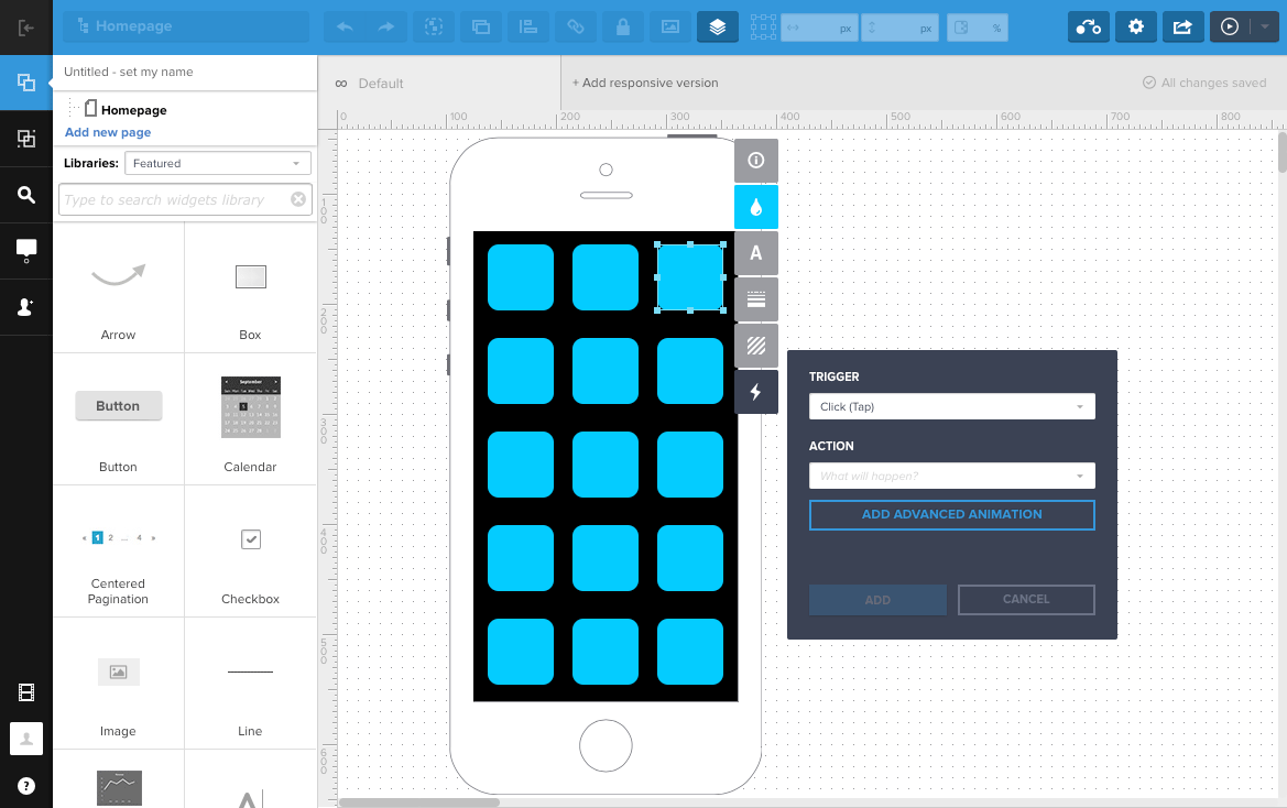 UXPin Screenshots