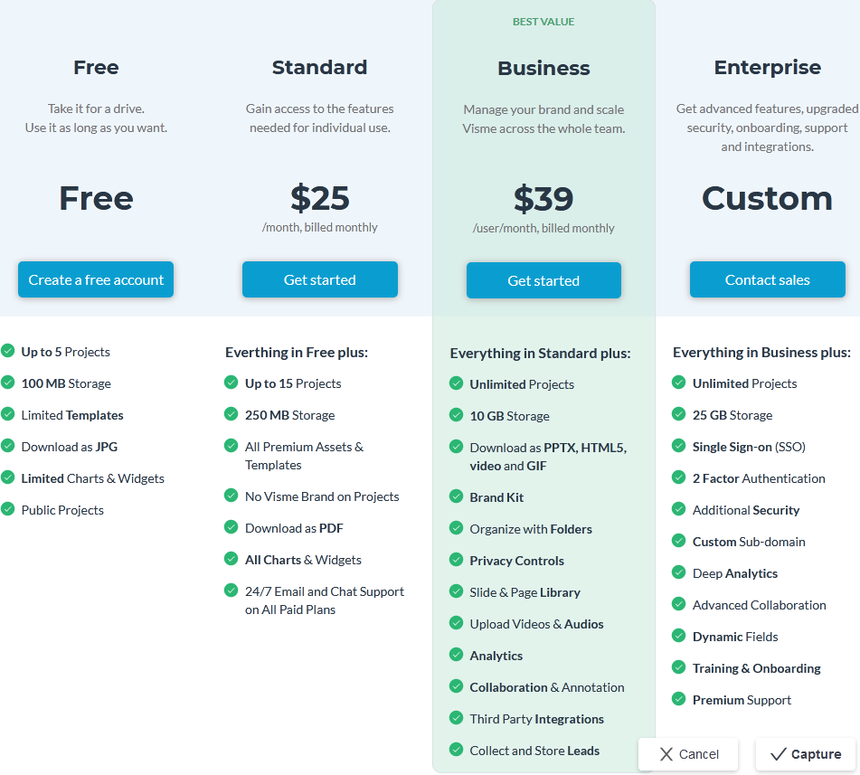 Visme Pricing, Reviews and Features (August 2021) - SaaSworthy.com