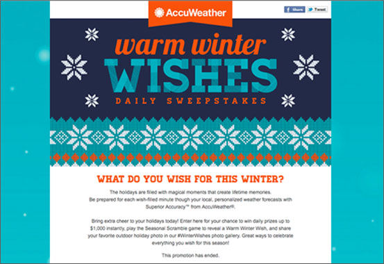 G2crowd : AccuWeather Instant-Win Sweepstakes