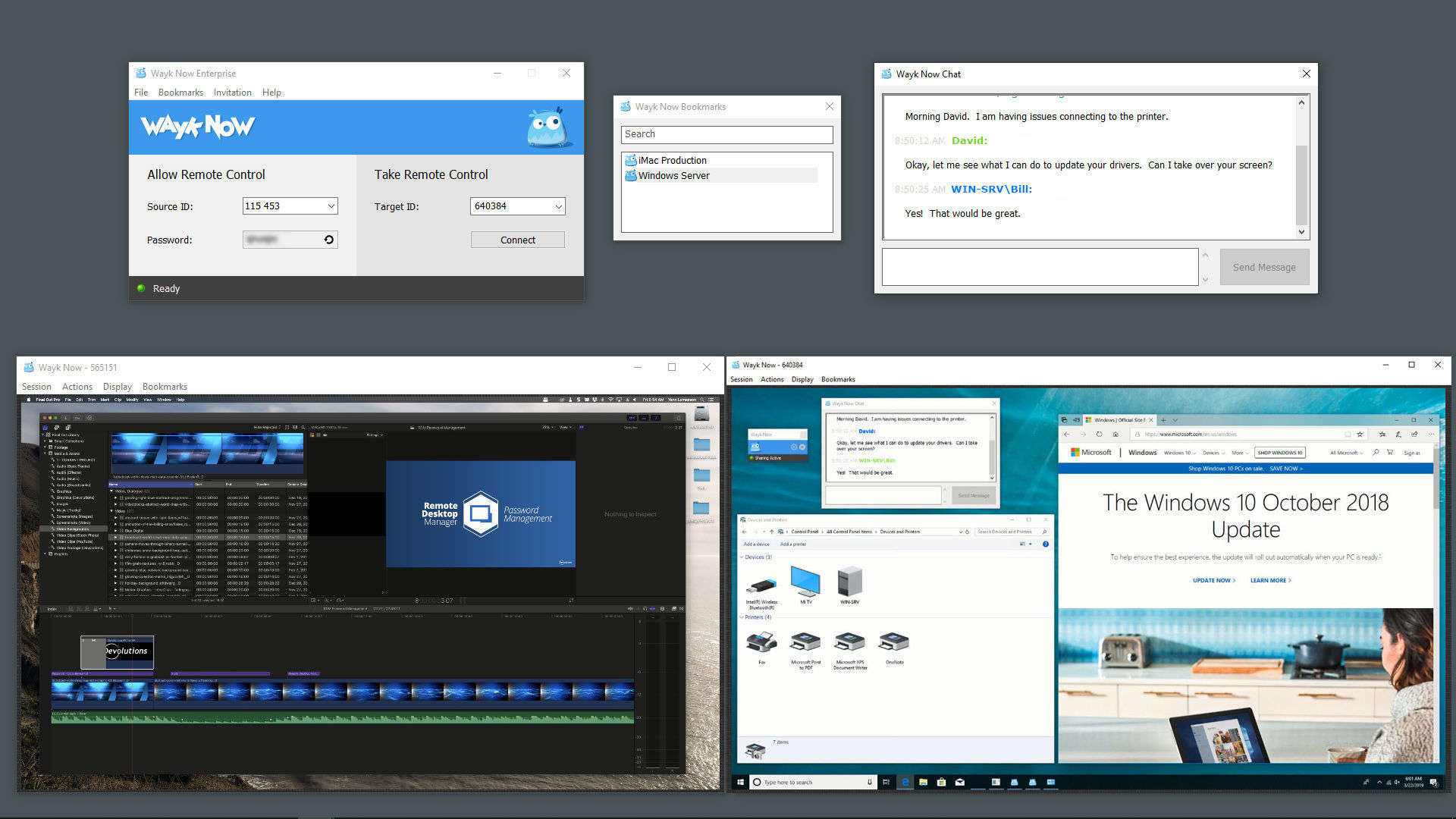 Wayk Now : Remotely Connect to Multiple Devices screenshot