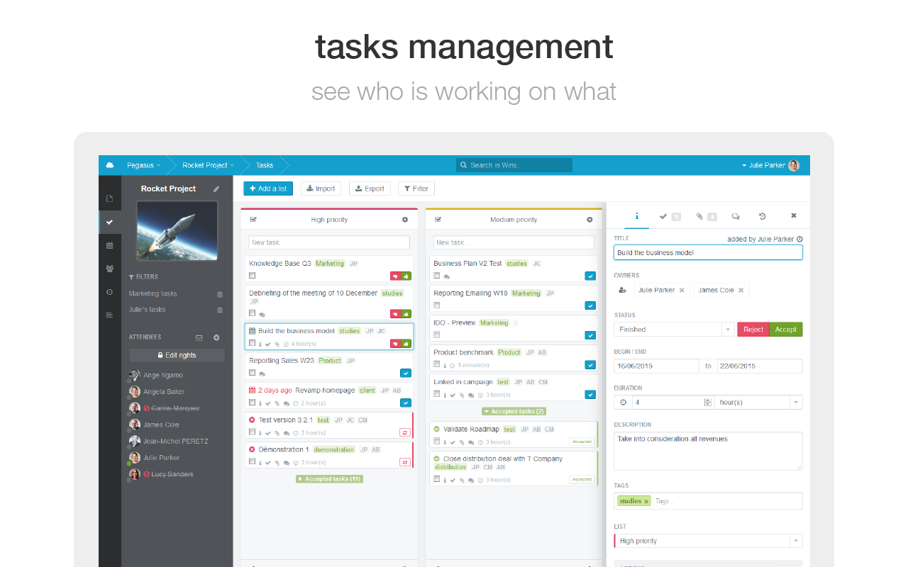 Wimi Demo - Agile Task Management