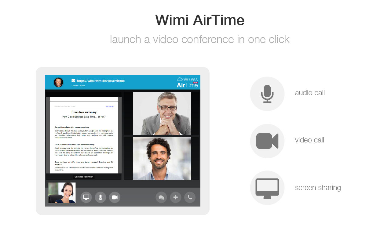 Wimi Demo - Instant Messaging & Video Conferencing