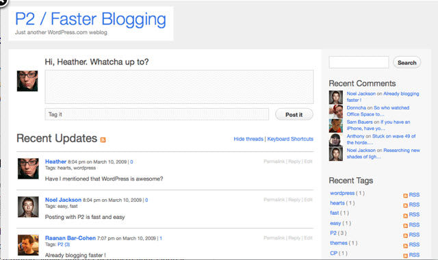 WordPress Screenshots