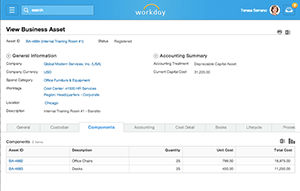 Workday Financial screenshot: Workday Financial Management - Business