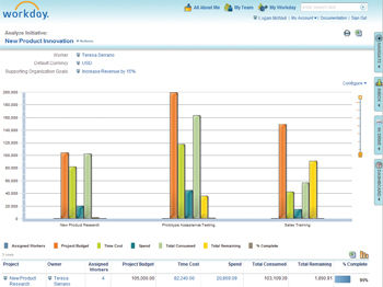 Workday Financial screenshot: Workday Financial Management - Report
