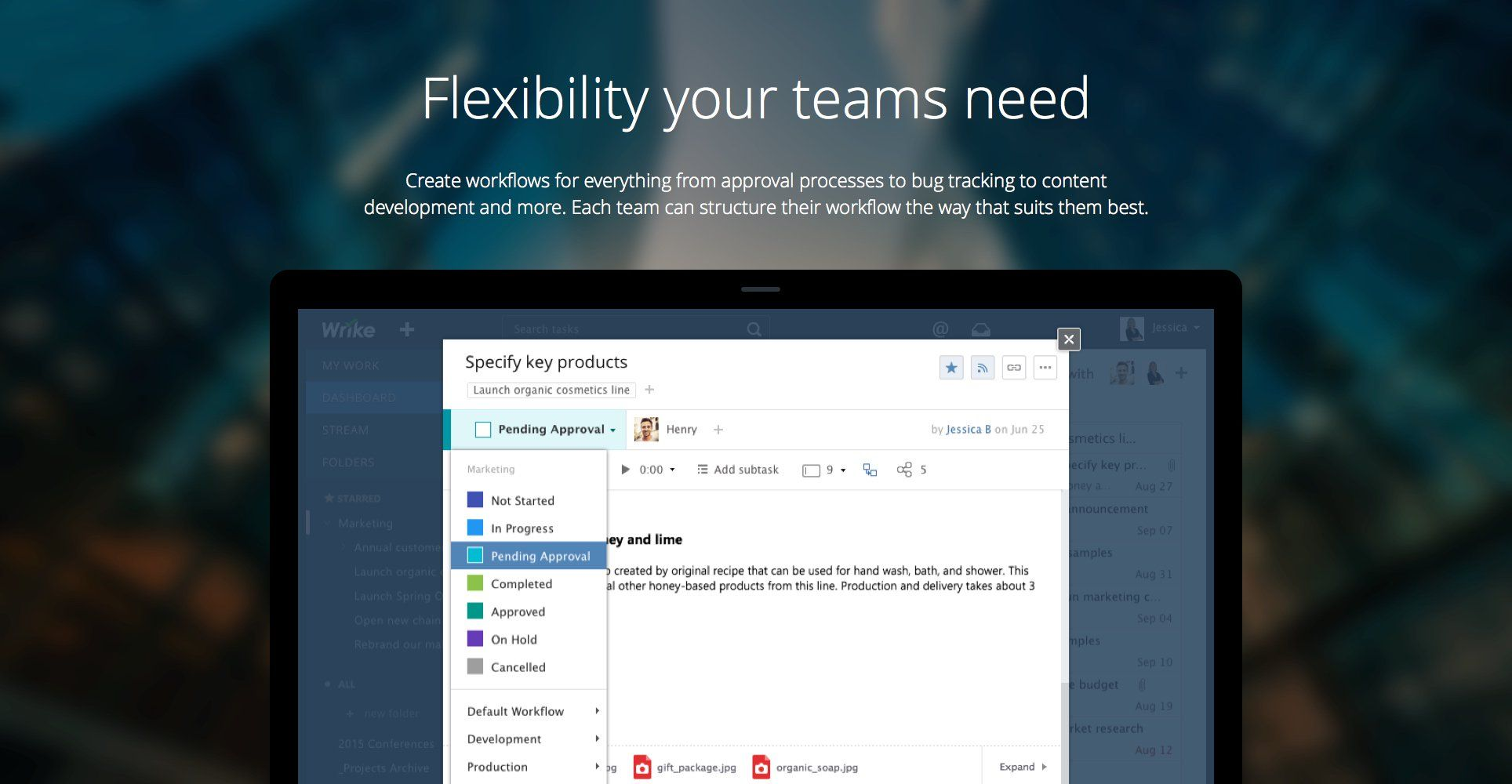 Wrike Demo - Flexibility your teams need
