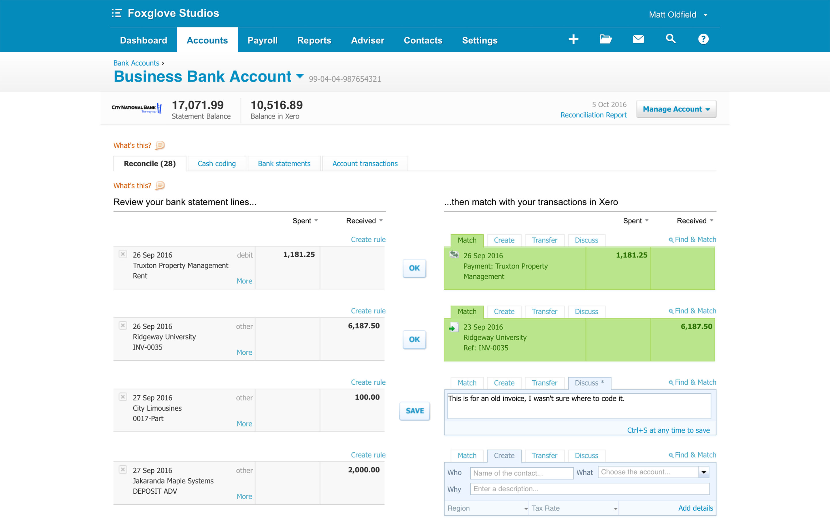 Xero screenshot
