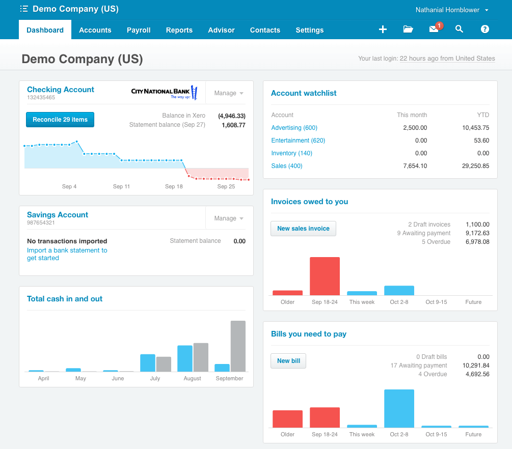 Xero Screenshots