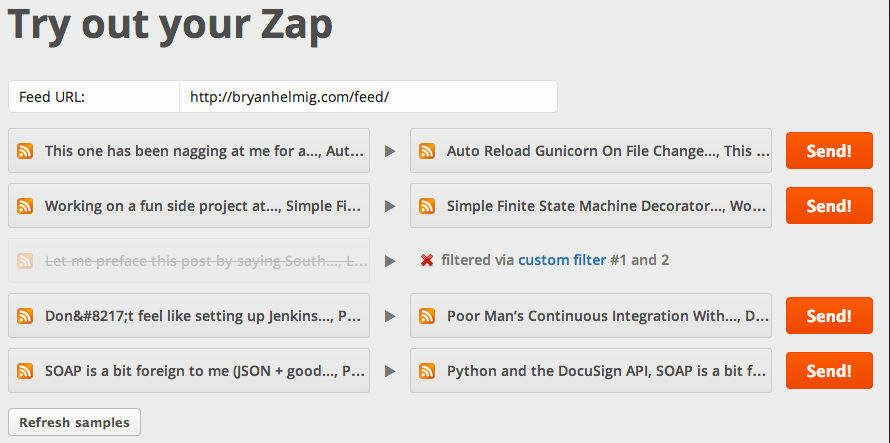 Zapier Screenshots