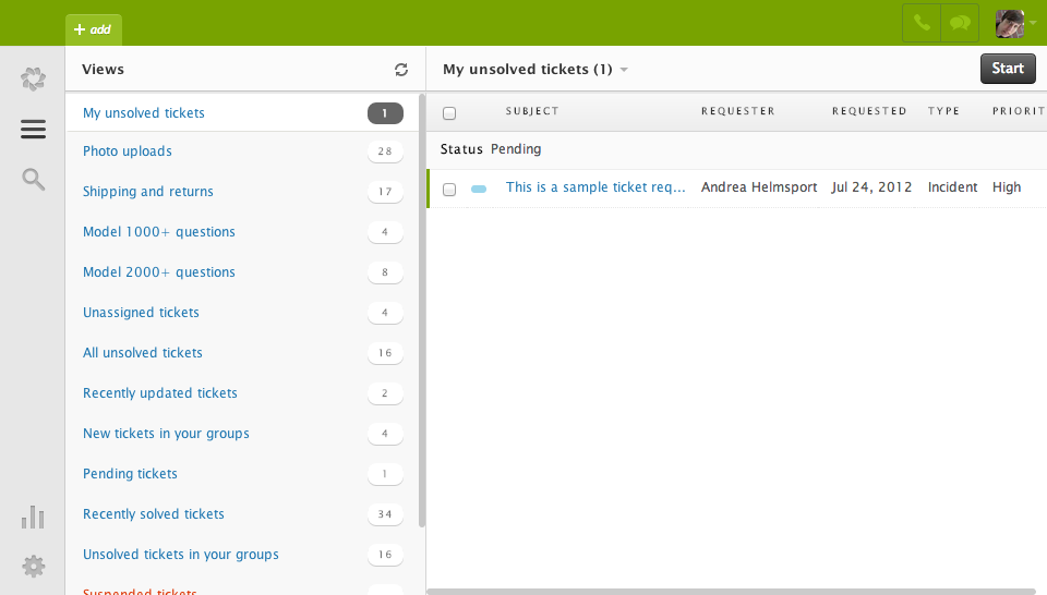 Zendesk Support Screenshots