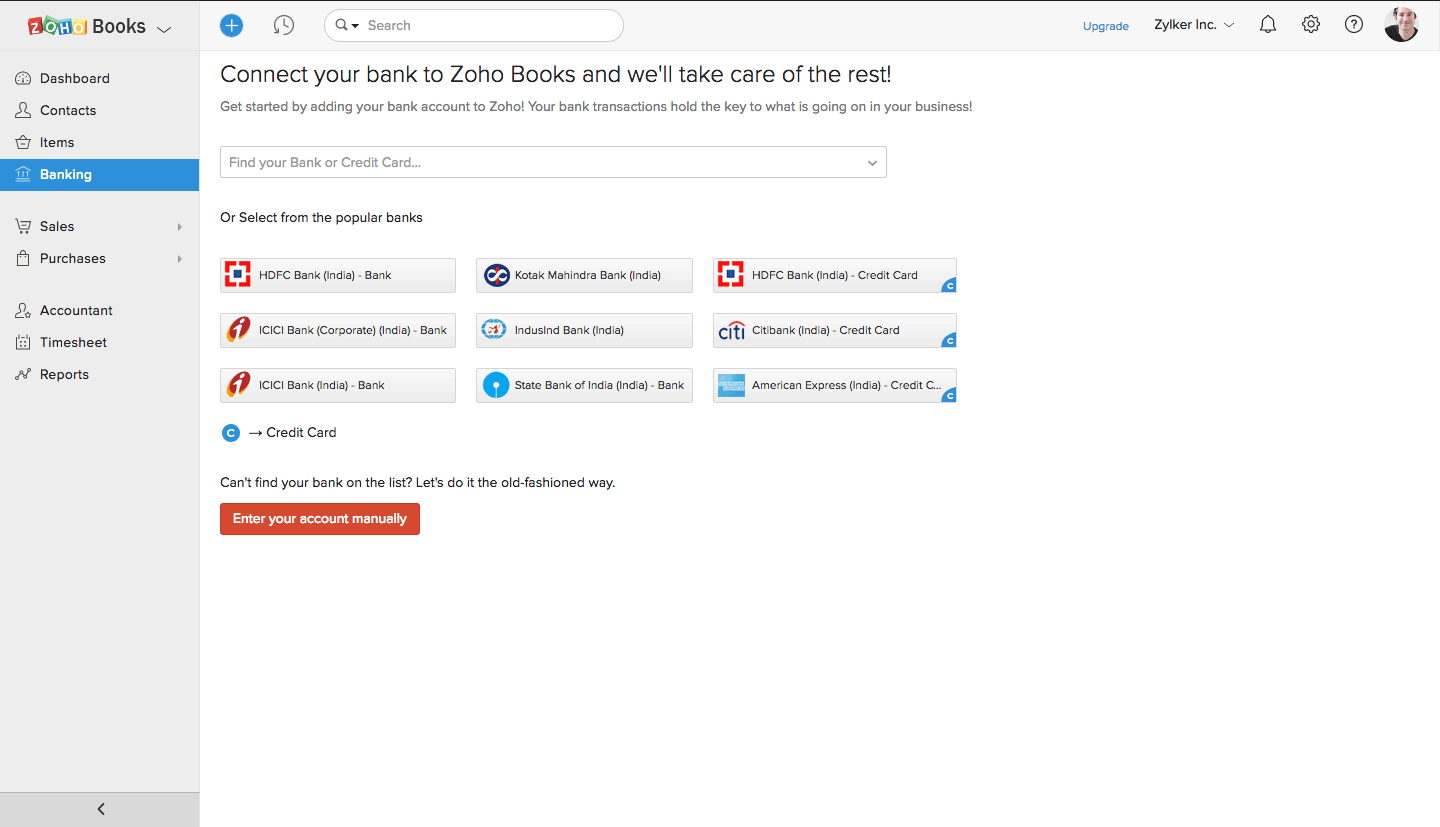 Zoho Books Screenshots
