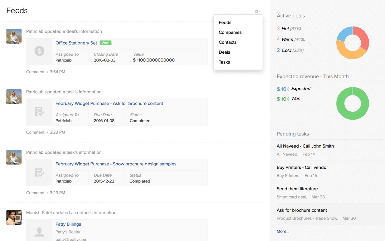 Zoho ContactManager Screenshots