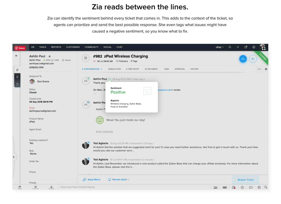 Zoho Desk Screenshots
