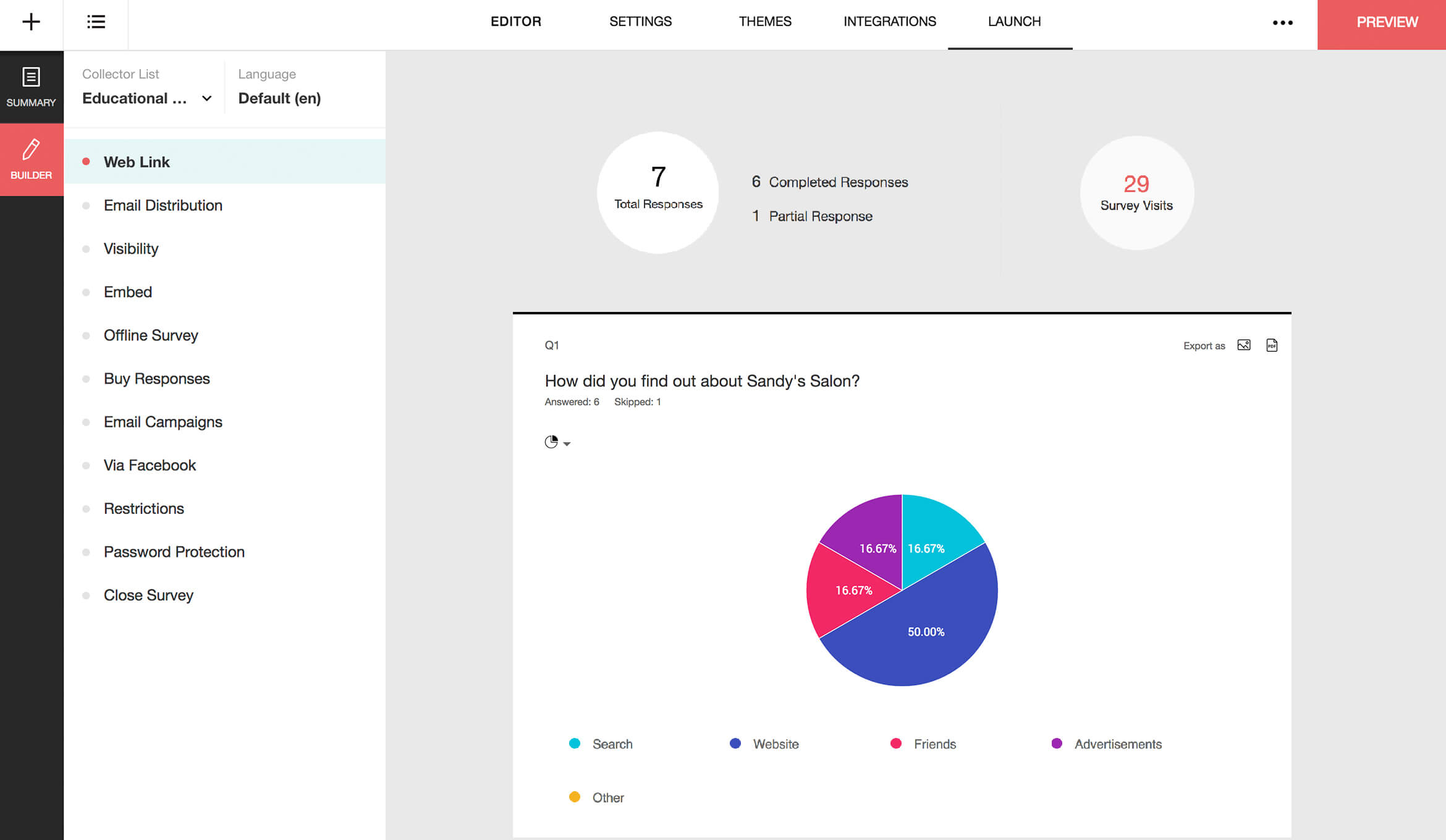 Zoho Survey screenshot