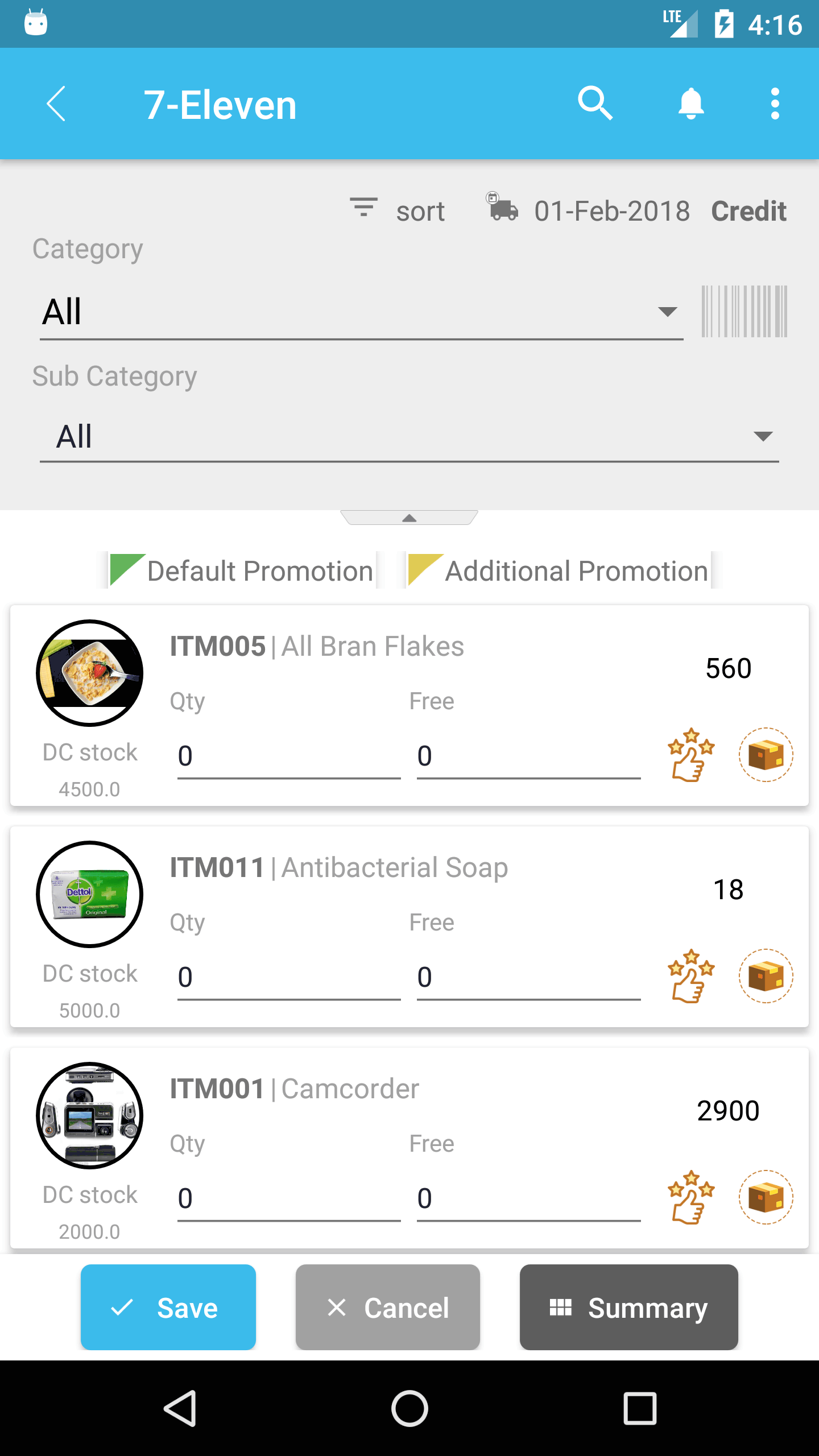 ZooM - Mobile Sales Force Automation Screenshots